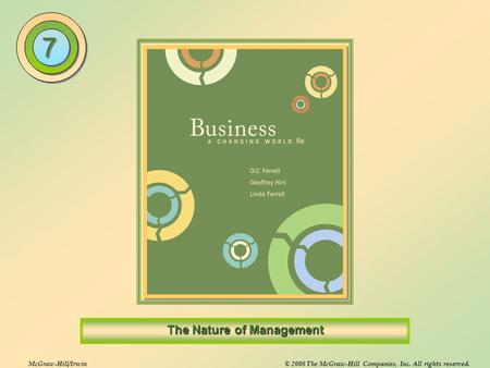 McGraw-Hill/Irwin© 2008 The McGraw-Hill Companies, Inc. All rights reserved. The Nature of Management 7 7.