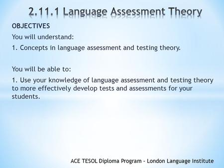 the influence of tests on teaching backwash Research domain: learning, teaching and assessment washback effect refers to the impact or influence of assessment practices – tests.