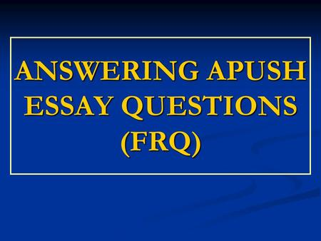 Answering essay questions english