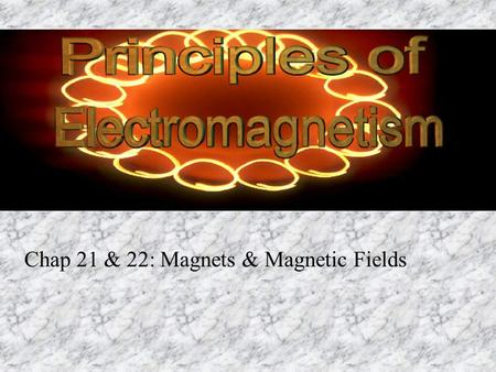 Chap 21 & 22: Magnets & Magnetic Fields
