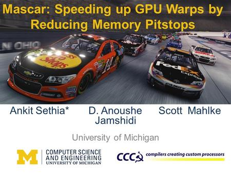 Mascar: Speeding up GPU Warps by Reducing Memory Pitstops