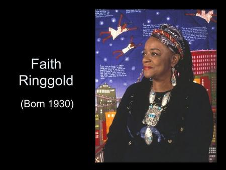 Faith Ringgold (Born 1930). American People #1: Between Friends (1963), Oil on Canvas, 40 x 24 inches. All rights reserved. In the 1960's Faith began.
