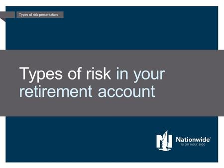 Types of risk presentation Types of risk in your retirement account.