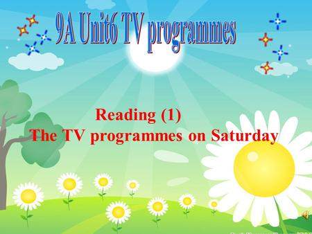 Reading (1) The TV programmes on Saturday. A: What kind of TV programmes do you like best? B:I like watching…. /I like watching programmes about…. A: