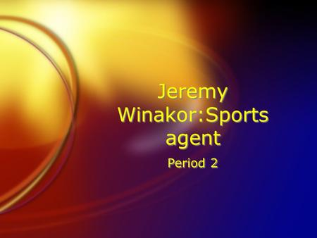 Jeremy Winakor:Sports agent Period 2. Sports Agent Salary FSports agents make different amounts depending on the sport and the player. Baseball players.