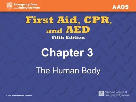 Chapter 3 The Human Body. First aider must be familiar with the basic structure and functions of the human body. By using proper terms, you will be able.