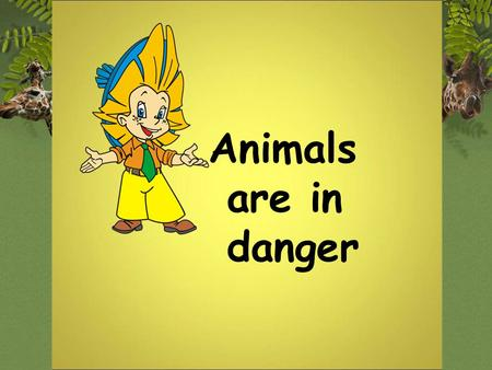Animals are in danger.