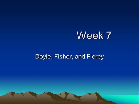 Week 7 Week 7 Doyle, Fisher, and Florey. Doyle - Language Anaphora is the repetition of words or phrases used at the beginning of sentences or clauses,