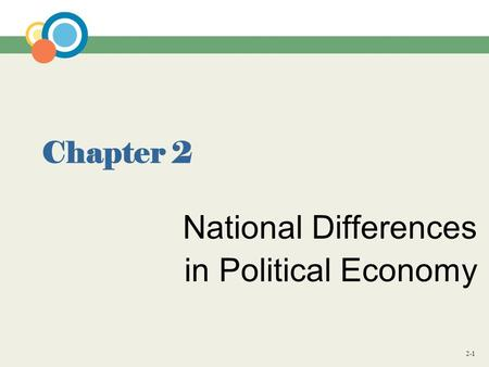 2-1 Chapter 2 National Differences in Political Economy.