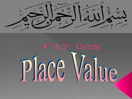Place value tells us what value each number has because of its place or position in any number.