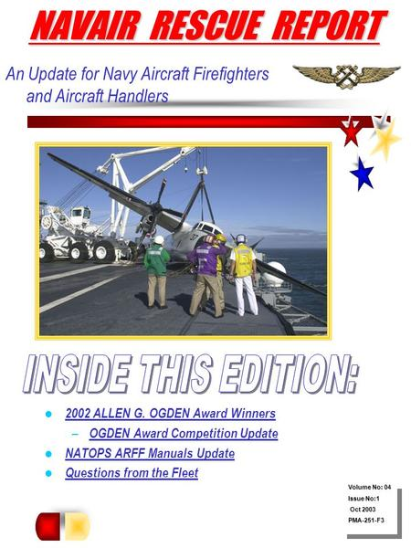NAVAIR RESCUE REPORT INSIDE THIS EDITION: