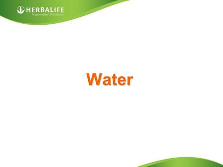 Water. The Importance of Water Low water intake results in: Tiredness Migraines Constipation Muscular cramps Blood pressure increase Kidney problems Dry.
