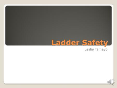 Ladder Safety Leslie Tamayo 3 Basic Ladders Industrial Type I–Industrial: Heavy-duty with a load capacity not more than 250 pounds. Commercial Type II–Commercial: