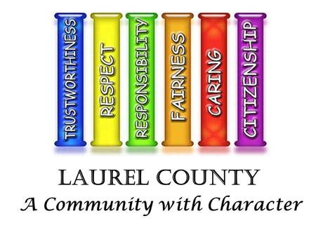 Laurel County A Community with Character. Academic Achievement Positive Behavior Successful Students We Believe …