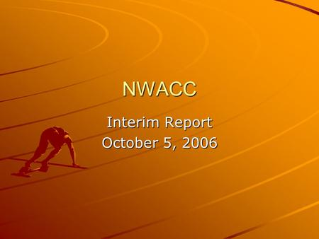 NWACC Interim Report October 5, 2006. North America R&E without NWACC.