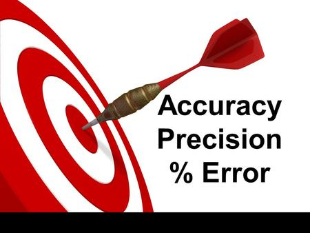 Accuracy Precision % Error. Variable is a factor that affects the outcome of an experiment. 3 Types of variables Experimental/ Independent Variable The.