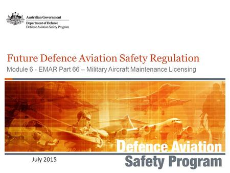 Future Defence Aviation Safety Regulation