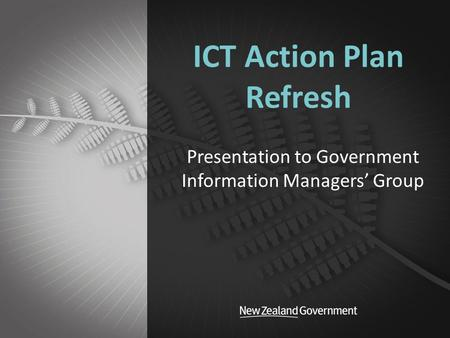 ICT Action Plan Refresh