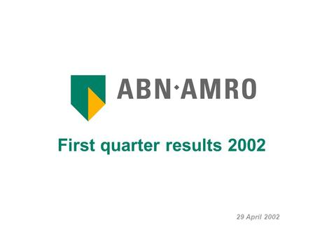 First quarter results 2002 29 April 2002. First quarter results 2002 2 Strong operating result... Revenues remain resilient (+0.4%) Operating expenses.