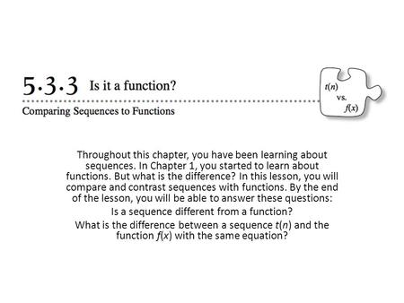 Is a sequence different from a function?
