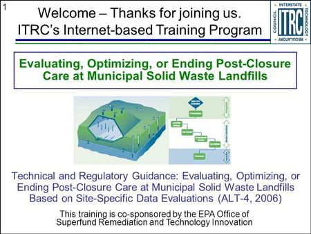1 Evaluating, Optimizing, or Ending Post-Closure Care at Municipal Solid Waste Landfills Technical and Regulatory Guidance: Evaluating, Optimizing, or.
