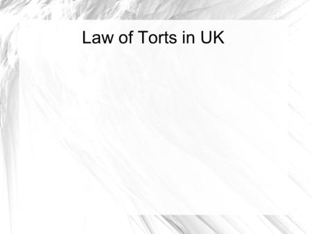 Types of remedies of tort liability