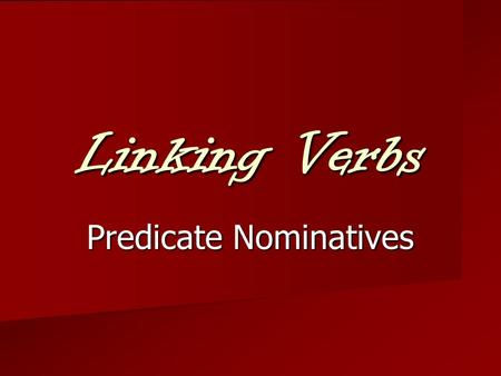 no linking verbs in essay