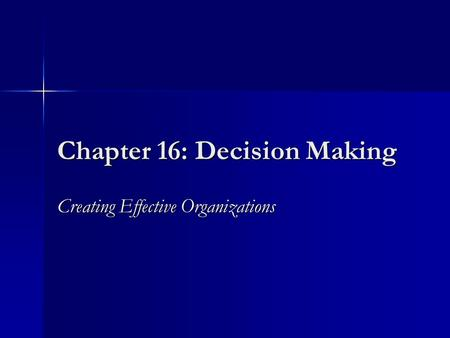 chapter 16 critical thinking and decision making