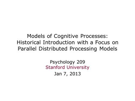 Interactive activation model definition psychology