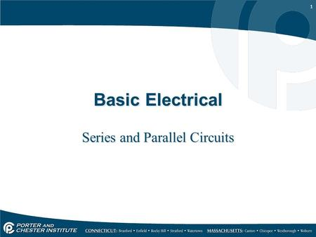 1 Basic Electrical Series and Parallel Circuits. 2 Introduction So far we have looked at circuits that have one path for electricity to go as well as.