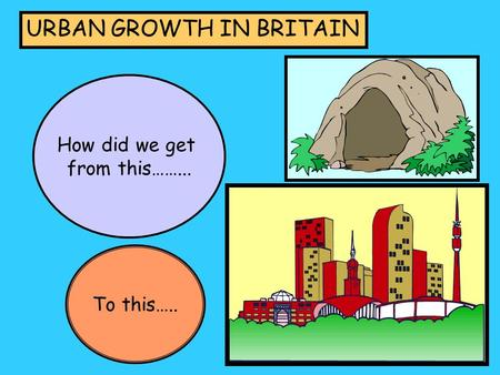 URBAN GROWTH IN BRITAIN How did we get from this……... To this…..