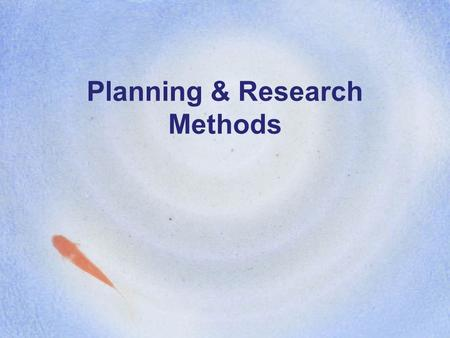 Planning & Research Methods. Today's Class PubMed Training Review Personal Essay Planning and Process –Writing objectives –Audience analysis –Outlines.