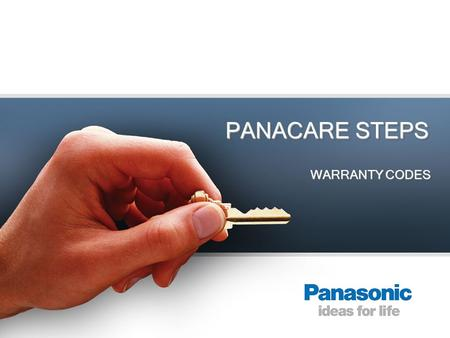 PANACARE STEPS WARRANTY CODES. Login Main Site