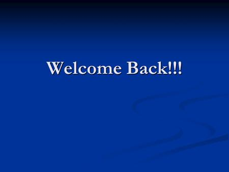 Welcome Back!!!. Thus far…. Throughout this unit, you have learned to apply the theories of behavioral modification to hypothetical scenarios with clients.