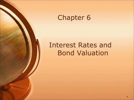 Bond Definitions Bond Par value (face value) Coupon rate