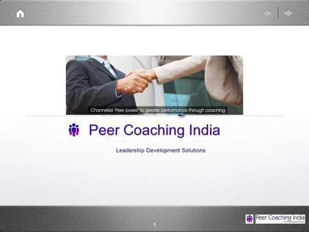 1 Peer Coaching India Leadership Development Solutions.