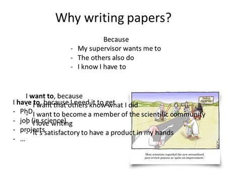 I want to know why essay