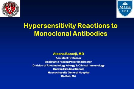 Hypersensitivity Reactions to Monoclonal Antibodies