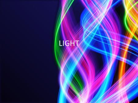 LIGHT. Types of Light Waves Light waves are grouped by different frequencies and wavelengths. These are the different types of electromagnetic waves.