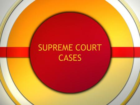 SUPREME COURT CASES. Marbury v. Madison (1803) Jefferson ordered that the papers not be delivered and gave the job to someone else. Marbury sued asking.