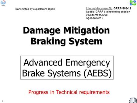Damage Mitigation Braking System