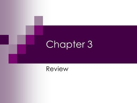 Chapter 3 Review.