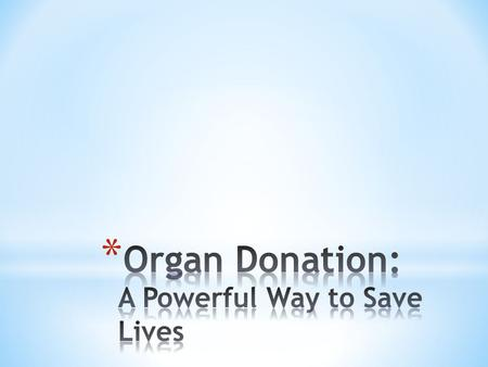 With the number of people in the United States waiting for a life saving organ transplant growing greater than 100,000 people, the need for organ donors.