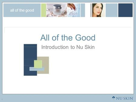 Introduction to Nu Skin