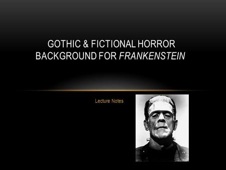 Gothic & Fictional Horror Background for Frankenstein