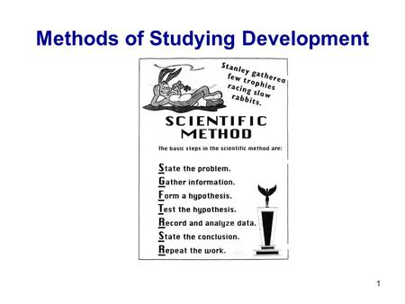1 Methods of Studying Development. 2 3 Key Issues in Human Development 1- Heredity and Environment Heredity-oriented theories assume an important role.