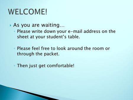 welcome adress essay