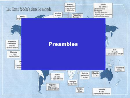 Preambles. The different solutions of European Constitutions with regard to their diversities.