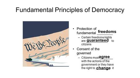 Fundamental Principles of Democracy