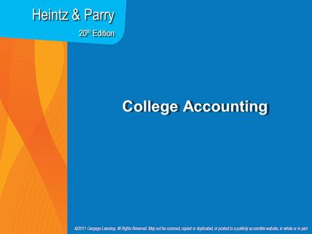 College Accounting Heintz & Parry 20 th Edition. Chapter 18 Accounting for Long-Term Assets.